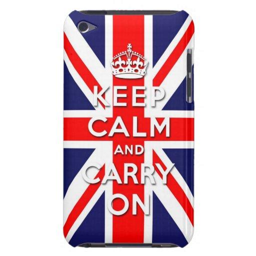 maintenez calme et continuez le drapeau d'Union Ja Coque iPod Case-Mate