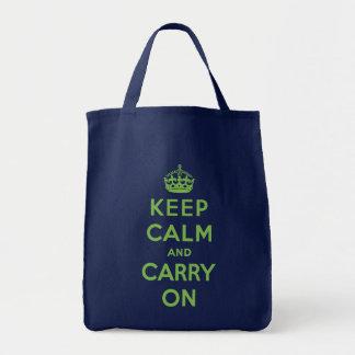 Maintenez calme et continuez le sac d'épicerie