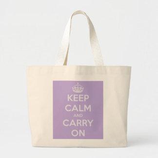 Maintenez calme et continuez le sac fourre-tout à