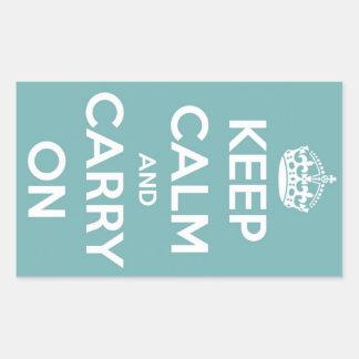 Maintenez calme et continuez les autocollants de