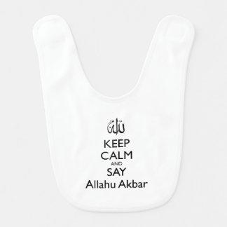 Maintenez calme et dites Allahu Akbar le bavoir de