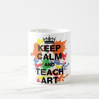 Maintenez calme et enseignez la tasse d'art