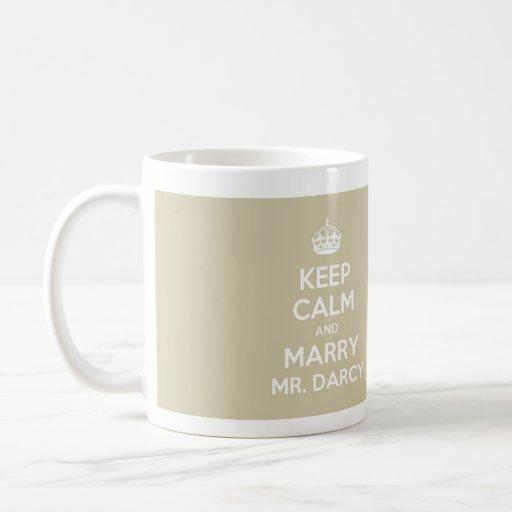 Maintenez calme et épousez M. Darcy - pleine tasse