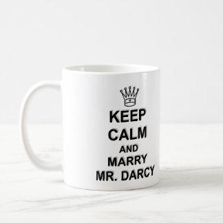 Maintenez calme et épousez M. Darcy - texte noir Mug