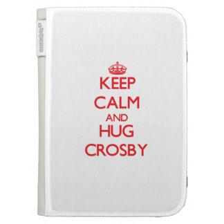 Maintenez calme et étreinte Crosby Coques Folio Kindle
