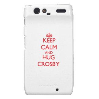 Maintenez calme et étreinte Crosby Coques Droid RAZR