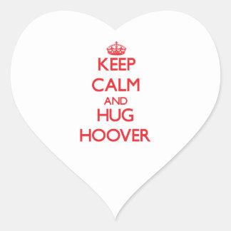 Maintenez calme et étreinte Hoover Autocollants En Cœur