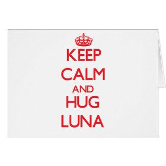Maintenez calme et étreinte Luna Carte De Vœux