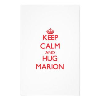 Maintenez calme et ÉTREINTE Marion Papier À Lettre Personnalisable