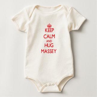 Maintenez calme et étreinte Massey Bodies Pour Bébé