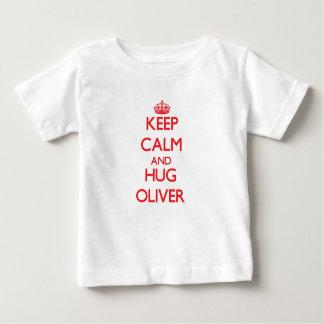 Maintenez calme et étreinte Oliver T-shirt Pour Bébé