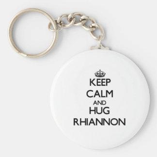 Maintenez calme et ÉTREINTE Rhiannon Porte-clé Rond