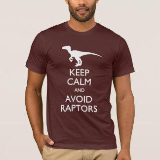 Maintenez calme et évitez le T-shirt de Raptors