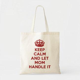 Maintenez calme et laissez la maman le manipuler sacs