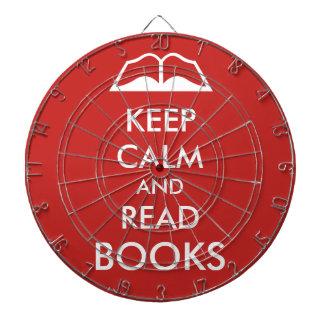 Maintenez calme et lisez les livres jeux de fléchettes