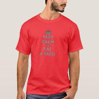 maintenez calme et mangez des aliments de t-shirt