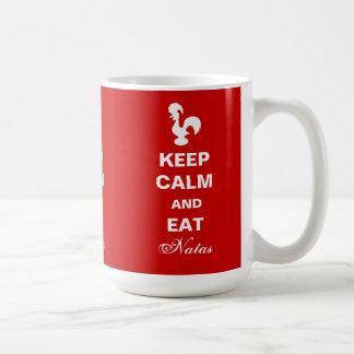 Maintenez calme et mangez la tasse de Natas