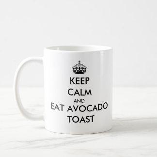 Maintenez calme et mangez la tasse de pain grillé