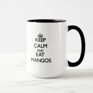 Maintenez calme et mangez les mangues mug