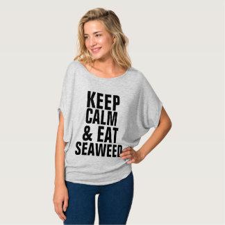 MAINTENEZ CALME ET MANGEZ les T-shirts d'ALGUE