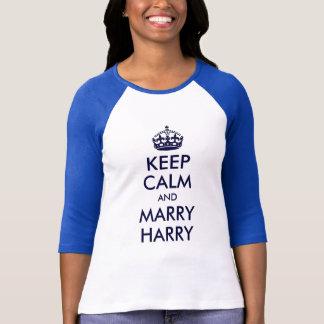 Maintenez calme et mariez la chemise de Harry T-shirt