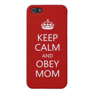 Maintenez calme et obéissez la maman iPhone 5 case