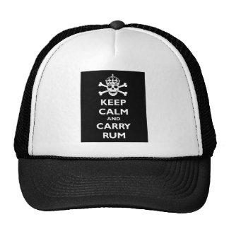 Maintenez calme et portez le rhum casquettes de camionneur