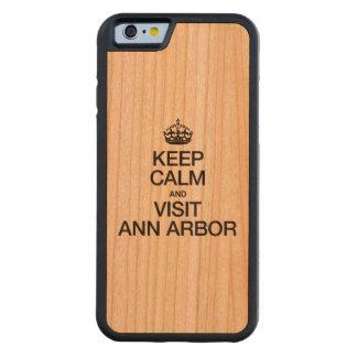 MAINTENEZ CALME ET VISITE ANN ARBOR COQUE iPhone 6 BUMPER EN CERISIER