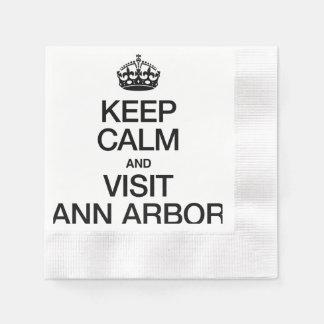MAINTENEZ CALME ET VISITE ANN ARBOR SERVIETTES JETABLES