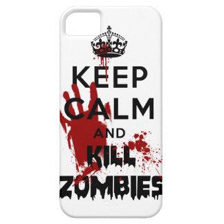 Maintenez cas calme et de mise à mort de zombis d' coques iPhone 5
