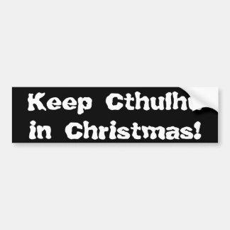 Maintenez Cthulhu dans Noël Autocollant De Voiture
