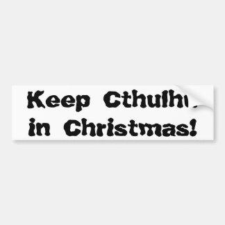 Maintenez Cthulhu dans Noël Autocollant Pour Voiture