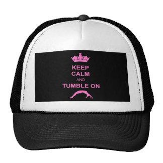Maintenez gymnaste calme et de dégringolade casquettes de camionneur
