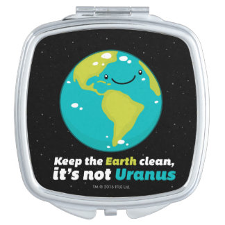 Maintenez la terre propre miroir compact