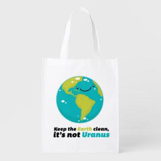 Maintenez la terre propre sac d'épicerie