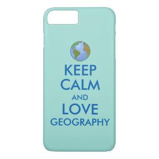 Maintenez le calme et la géographie d'amour coque iPhone 7 plus
