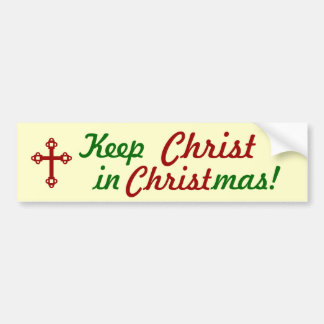 Maintenez le CHRIST dans Noël ! Adhésif pour pare- Autocollant De Voiture
