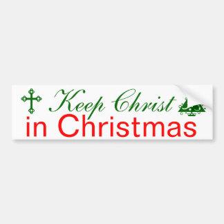 Maintenez le Christ dans Noël Autocollant Pour Voiture