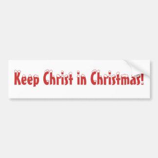 Maintenez le Christ dans Noël ! Adhésif Pour Voiture