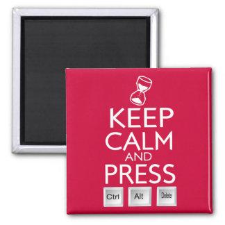 Maintenez le contrôle alt calme et de presse et magnet carré