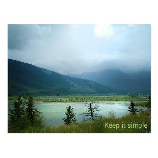 Maintenez-le simple carte postale