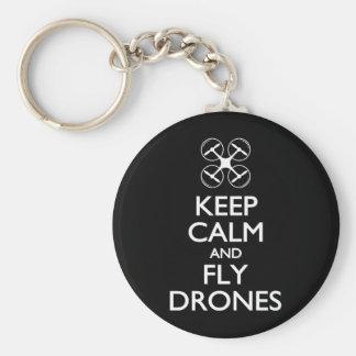 Maintenez les bourdons calmes et de mouche porte-clé rond