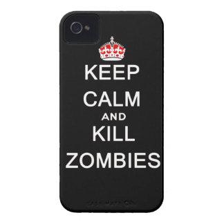 maintenez les zombis calmes et de mise à mort coque iPhone 4 Case-Mate