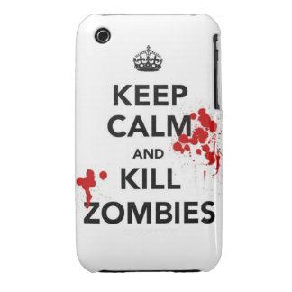 maintenez les zombis calmes et de mise à mort coque Case-Mate iPhone 3