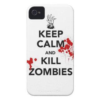 maintenez les zombis calmes et de mise à mort coque Case-Mate iPhone 4