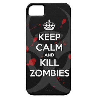 maintenez les zombis calmes et de mise à mort étuis iPhone 5