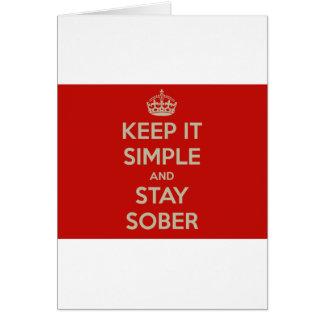 Maintenez lui simple et le séjour Stober Cartes