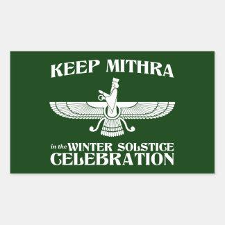 Maintenez Mithra dans la célébration de solstice Sticker Rectangulaire