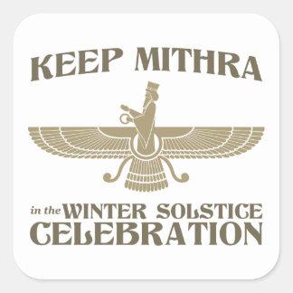 Maintenez Mithra dans la célébration de solstice Sticker Carré
