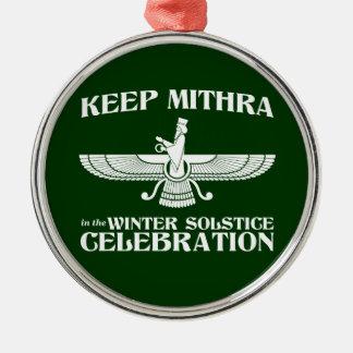 Maintenez Mithra dans la célébration de solstice d Ornement De Noël